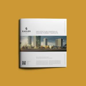 Architecture Portfolio Square Format Template
