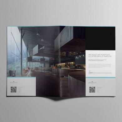 Architecture Portfolio US Letter Bifold Template – kfea 3-min