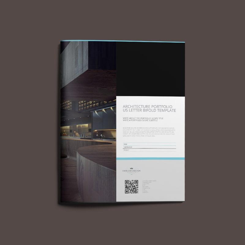 Architecture Portfolio US Letter Bifold Template