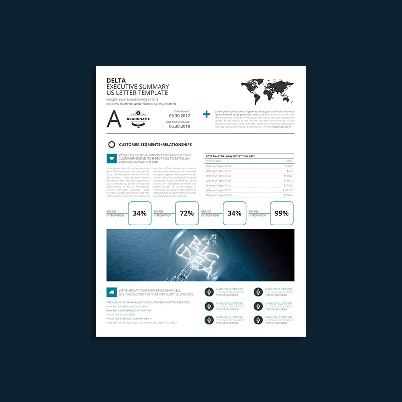 Delta Executive Summary US Letter Template