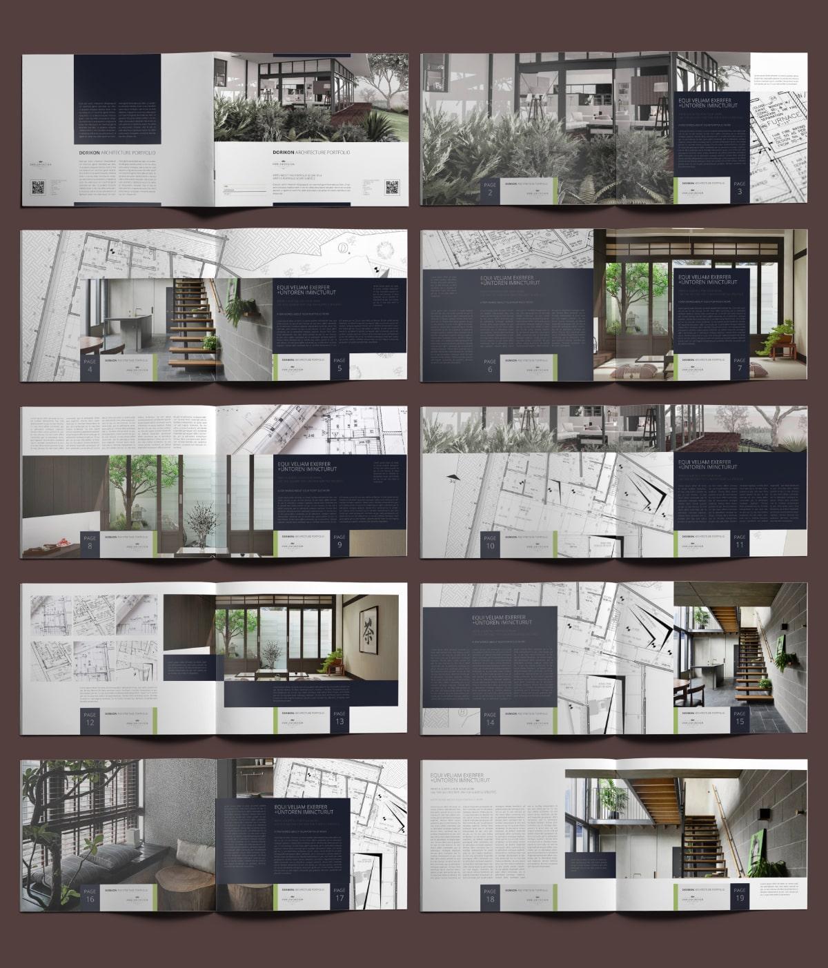 Dorikon Architecture Portfolio US Letter Landscape - Layouts