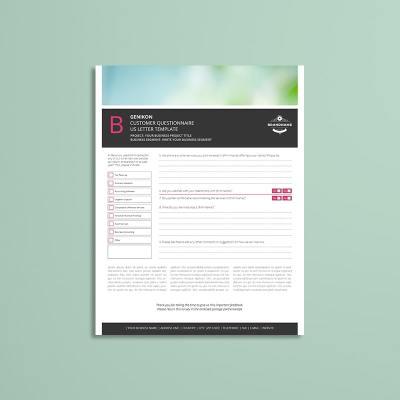 Genikon Customer Questionnaire US Letter Template
