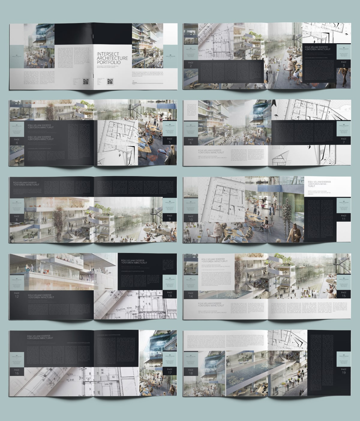 Intersect Architecture Portfolio US Letter Landscape - Layouts