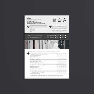 Kappa Customer Questionnaire A4 Template