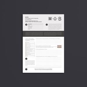Kappa Customer Questionnaire A4 Template