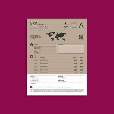 Karton Billing Statement US Letter Template