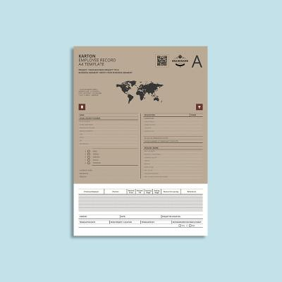 Karton Employee Record A4 Template