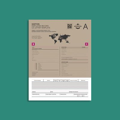Karton Employee Record US Letter Template