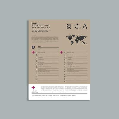 Karton New Hire Checklist US Letter Template