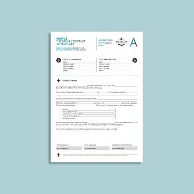 Kratos Tutoring Contract A4 Template