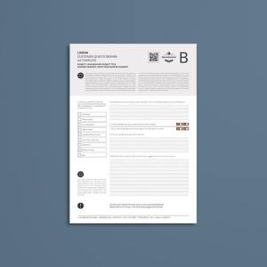 Lamda Customer Questionnaire A4 Template