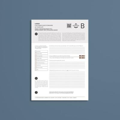 Lamda Customer Questionnaire A4 Template