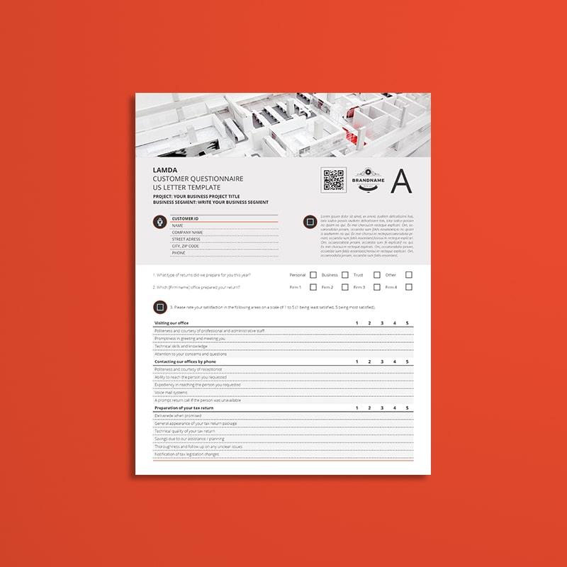 Lamda Customer Questionnaire US Letter Template