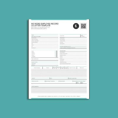 MS Word Employee Record US Letter Template