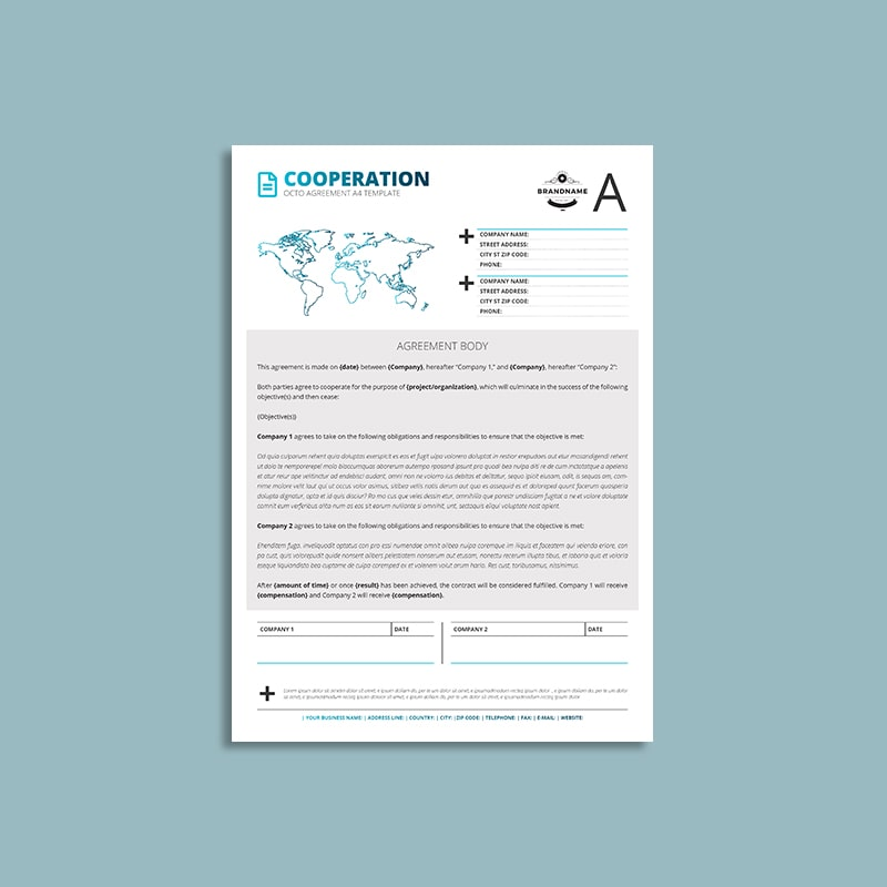 Octo Cooperation Agreement A4 Template