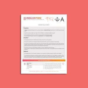 Octo Employee Evaluation Policy US Letter Template