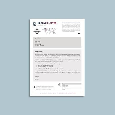 Octo HR Cover Letter A4 Template