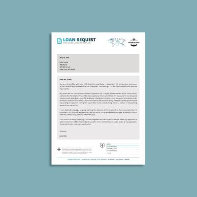 Octo Loan Request Cover Letter A4 Template