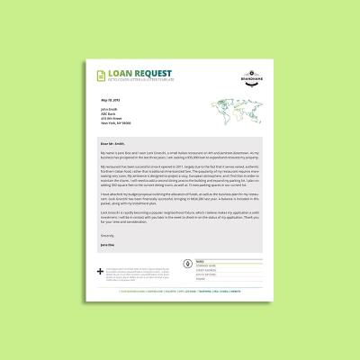 Octo Loan Request Cover Letter US Letter Template