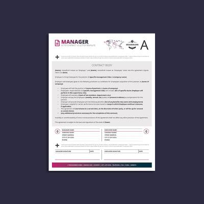 Octo Manager Contract US Letter Template