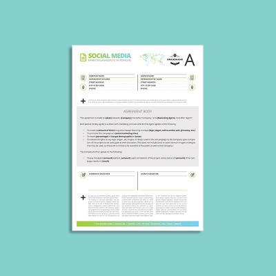 Octo Social Media Marketing Agreement A4 Template