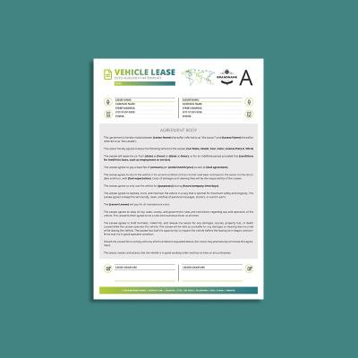 Octo Vehicle Lease Agreement A4 Template