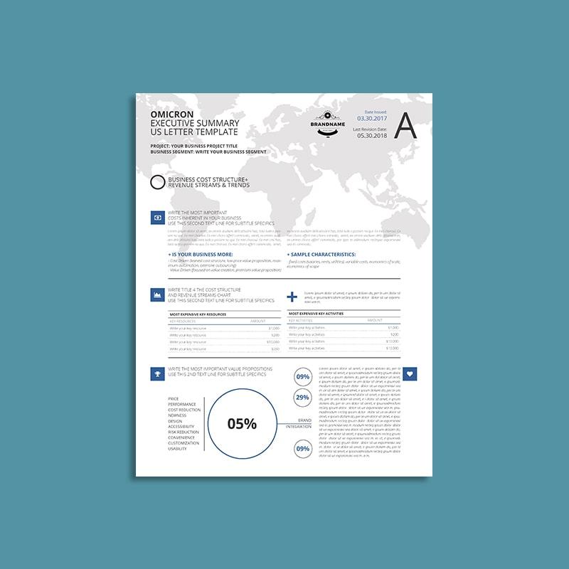 Omicron Executive Summary US Letter Template