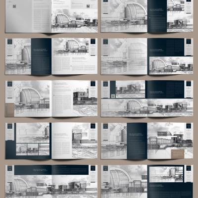Professional Architecture Portfolio US Letter Template - Layouts