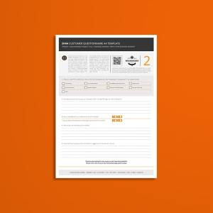 Sima Customer Questionnaire A4 Template