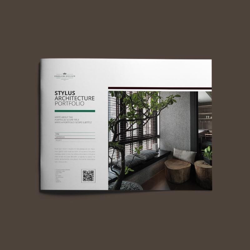 Stylus Architecture Portfolio US Letter Landscape | keboto org