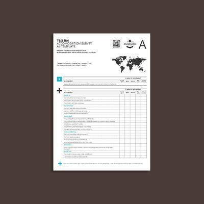 Tessera Accommodation Survey A4 Template