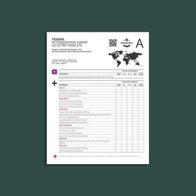 Tessera Accommodation Survey US Letter Template