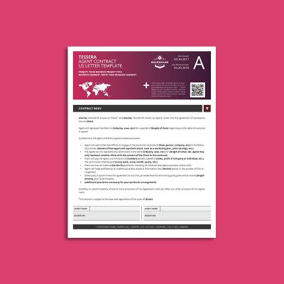 Tessera Agent Contract US Letter Template