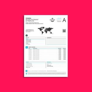 Tessera Billing Statement A4 Template