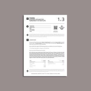 Tessera Business Acquisition Agreement A4 Template