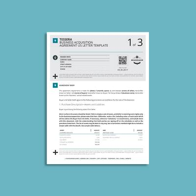 Tessera Business Acquisition Agreement US Letter Template