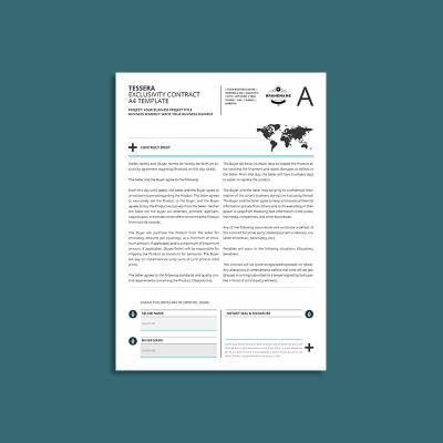 Tessera Exclusivity Contract A4 Template