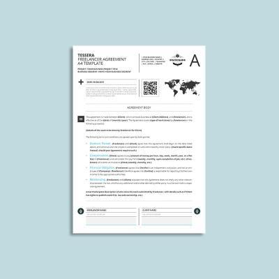 Tessera Freelancer Agreement A4 Template