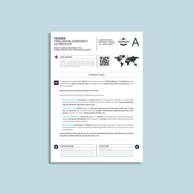 Tessera Freelancer Agreement A4 Template