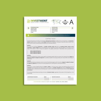 Tessera Investment Contract US Letter Template
