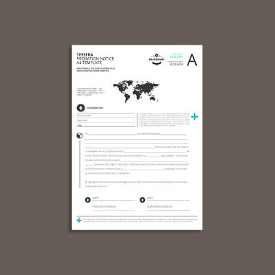 Tessera Probation Notice A4 Template