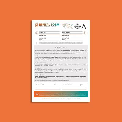 Tessera Rental Contract Form A4 Template