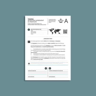 Tessera Retention Agreement A4 Template