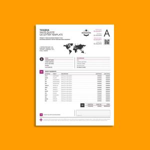 Tessera Sales Quote US Letter Template