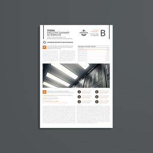 Thema Executive Summary A4 Template