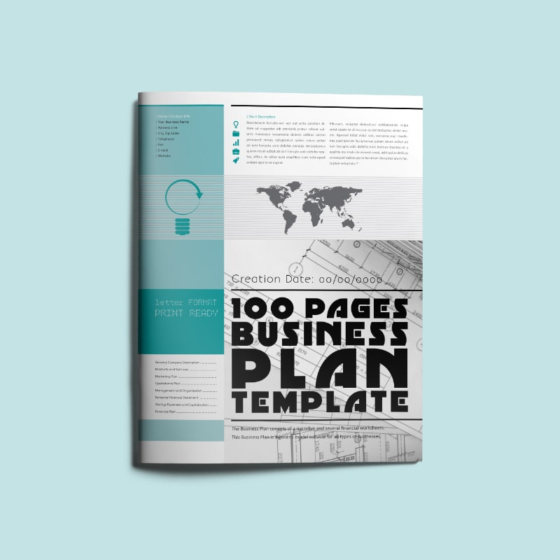 100 Pages Business Plan Template Letter