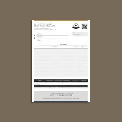 Billing Statement Business A4 Template
