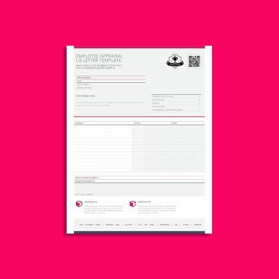 Employee Appraisal US Letter Template