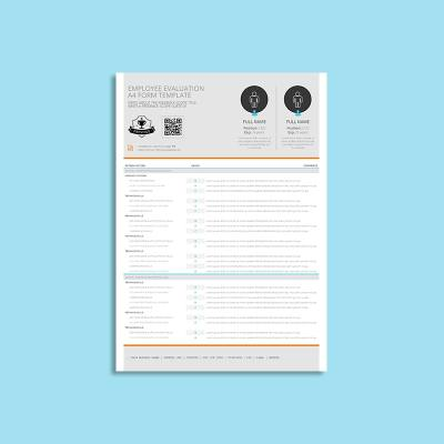 Employee Evaluation A4 Form Template