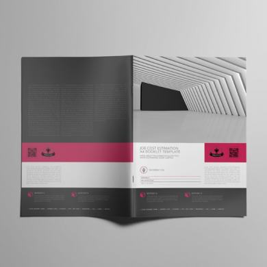 Job Cost Estimation A4 Booklet Template – kfea 2-min